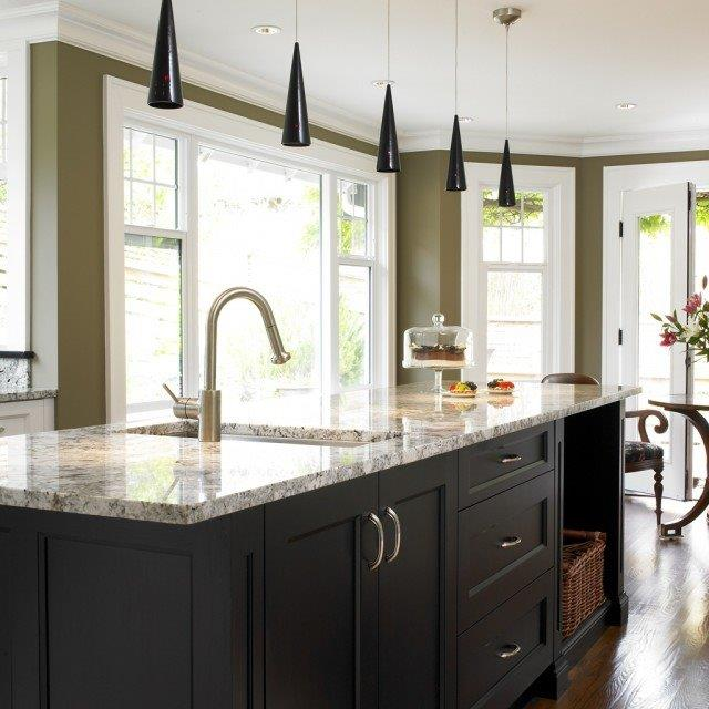 Silver travertine kitchen counter top