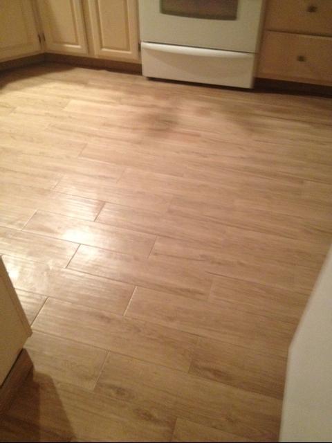 planking porcelain tile floor