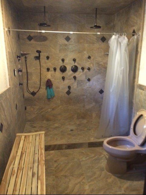 Complex-shower